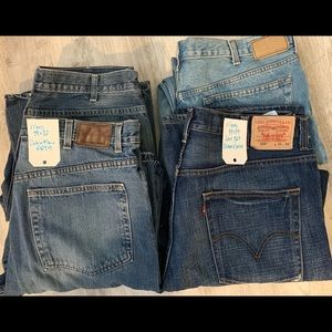 Men's Jeans Size 38 Levi Strauss/ Calvin Klein Lot